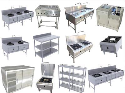 thiết bị bếp inox đa dạng