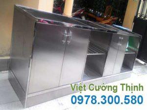 Tủ đựng chén bát bằng inox nhiều tầng nhiều ngăn -TU19002.