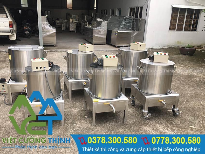 Việt Cường Thịnh chuyên sản xuất các loại nồi điện nấu phở, nồi nấu cháo công nghiệp chất lượng