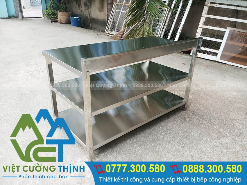 Việt Cường Thịnh - Địa chỉ chuyên cung cấp và gia công các mẫu bàn bếp inox, bàn bếp inox công nghiệp theo yêu cầu. Chất lượng uy tín, giá tốt nhất tại TPHCM..