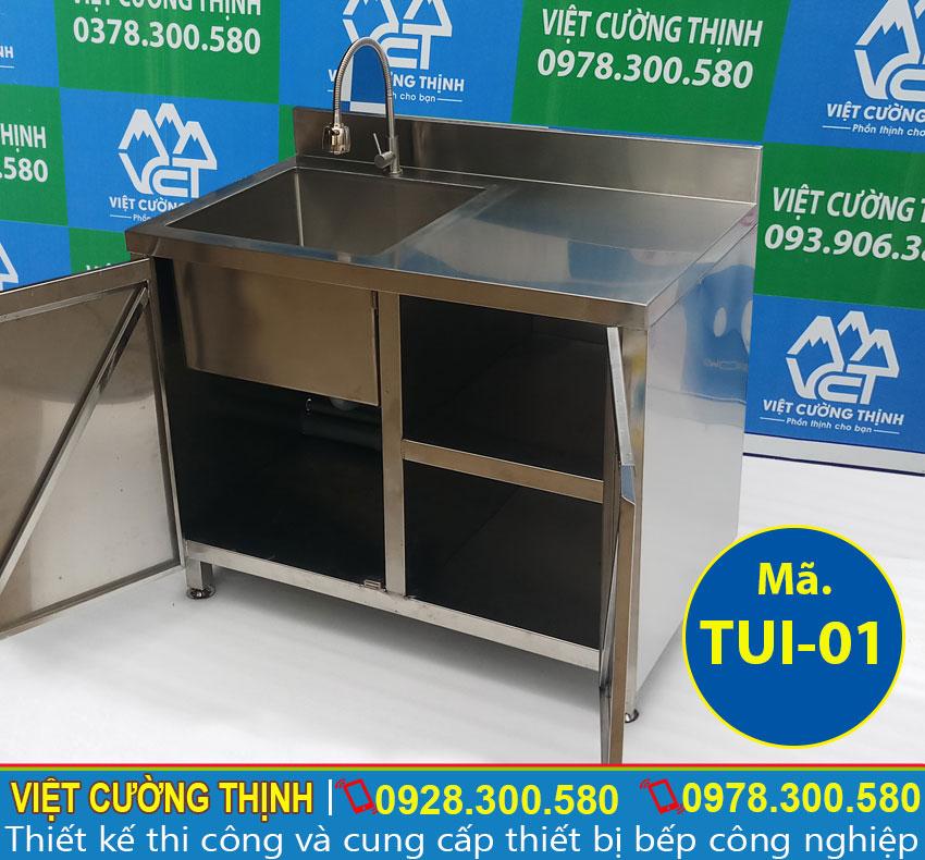 Tủ chén inox có bồn rửa chất lượng tại Việt Cường Thịnh