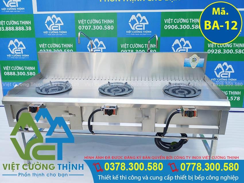 Mua bếp khè 3 họng, bếp công nghiệp 3 họng, bếp gas công nghiệp, bếp á 3 họng kiềng tô thấp áp chất lượng chính hãng với mức giá hấp dẫn chỉ có tại VCT.