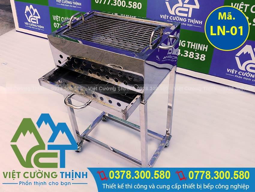Bếp nướng sườn bán cơm tấm bằng inox giá tốt tại xưởng Việt Cường Thịnh. (Ảnh thật tế).