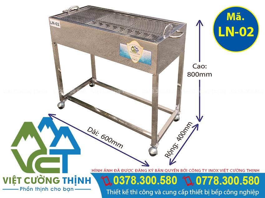 lò nướng inox LN-02 Việt Cường Thịnh