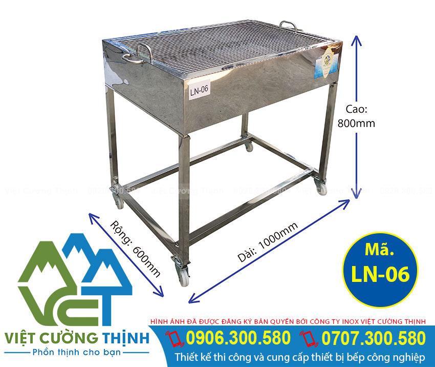 Lò nướng than inox LN-06