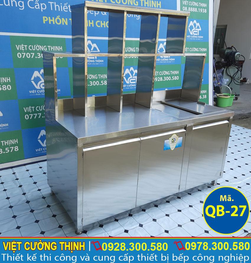 Quầy pha chế trà sữa inox 304 chất lượng tại Việt Cường Thịnh