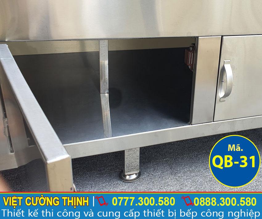 Hộc tủ của quầy pha chế inox QB-31