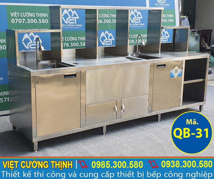 Mẫu quầy pha chế inox chất lượng, giá tốt QB-31