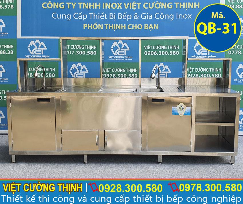 Quầy pha chế inox QB-31 chất lượng cao