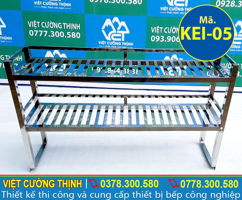 Việt Cường Thịnh - Địa chỉ cung cấp kệ inox thanh 2 tầng trên bàn uy tín hàng đầu Việt Nam