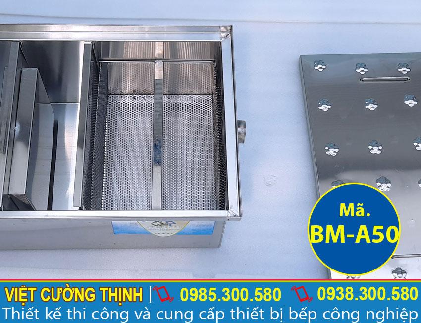 Bể mỡ âm sàn giá tốt, thi công tại xưởng Việt Cường Thịnh