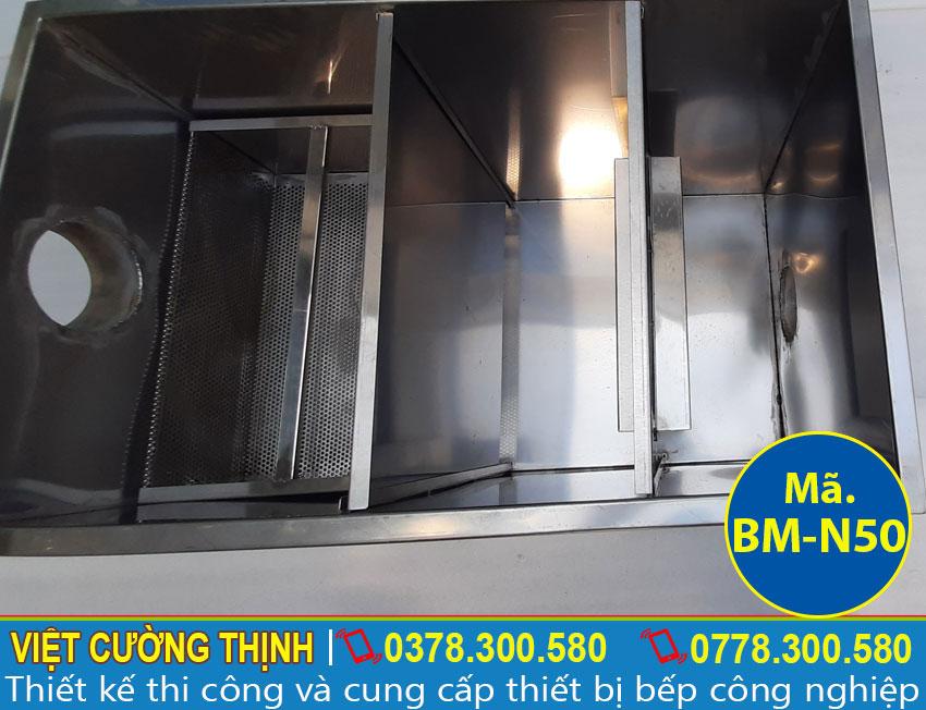 Bể tách mỡ inox 50l chất lượng, uy tín tại Việt Cường Thịnh