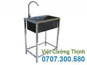 Chậu Rửa Bát 1 Ngăn Có Khung Chân CR-106