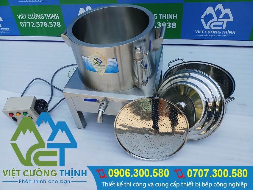 Cấu tạo nồi hấp công nghiệp bằng điện, cách bảo quản nồi hấp inox 304