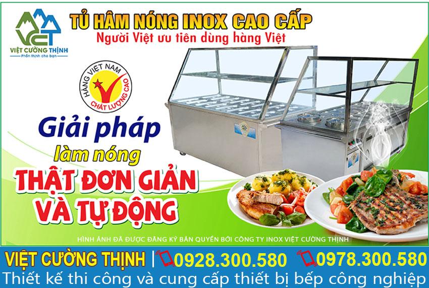 Tủ hâm nóng, nồi hâm nóng thức ăn inox 304 cao cấp