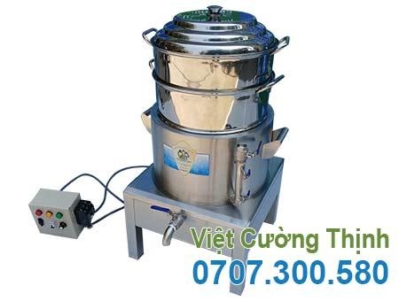 Nồi Nấu Bánh Bao Bằng Điện 2 Tầng Size 400 NHBB-D400-2T