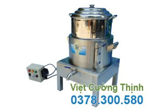 Nồi hấp cơm tấm 1 tầng bằng điện tại Việt Cường Thịnh