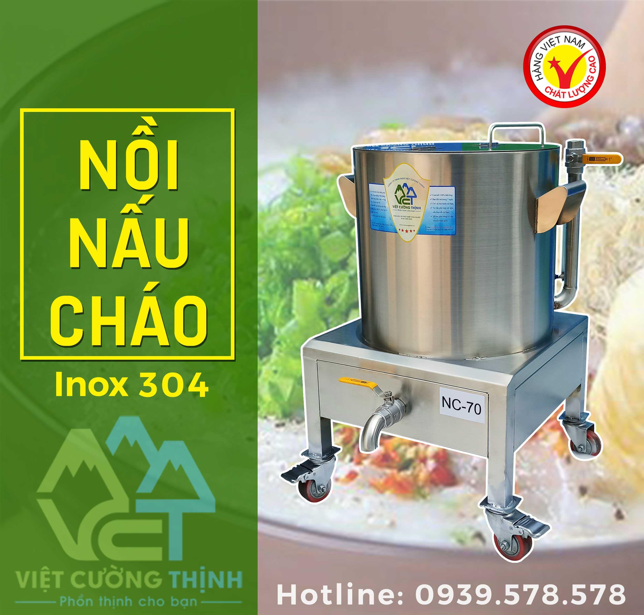 Nồi nấu cháo công nghiệp bằng điện chất lượng cao Việt Cường Thịnh