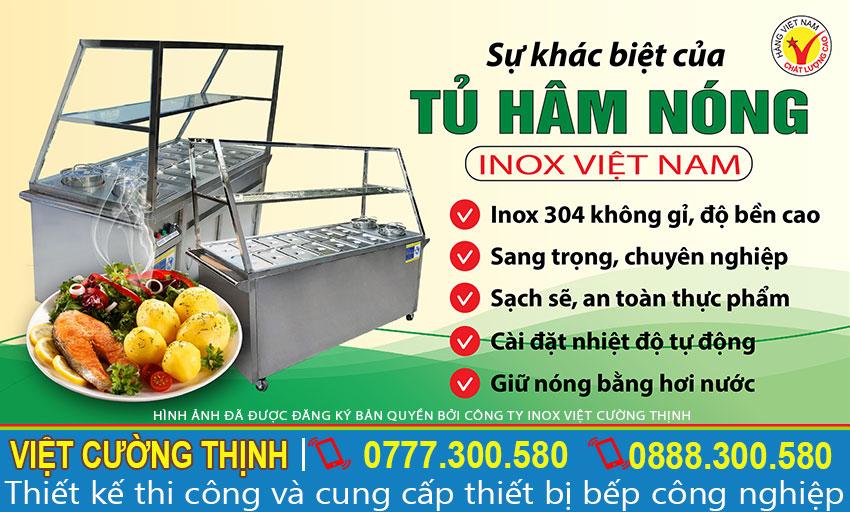 Tủ hâm nóng thức ăn inox - vct