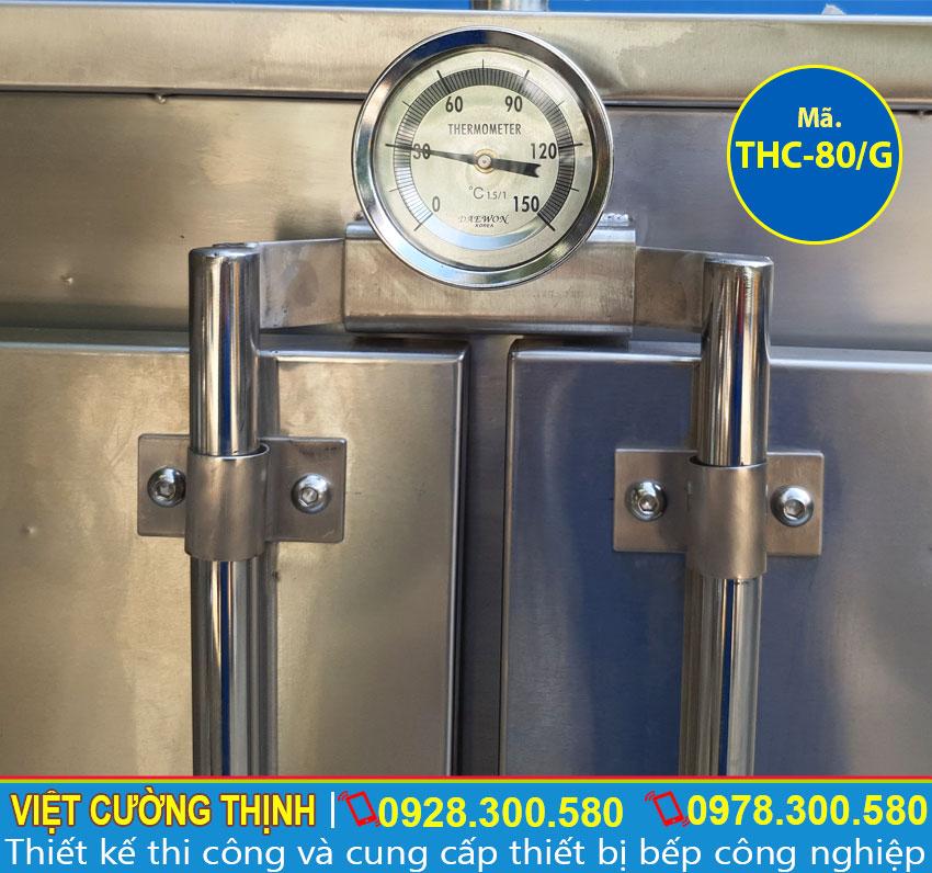Đồng hồ nhiệt tủ nấu cơm công nghiệp 80kg sử dụng gas