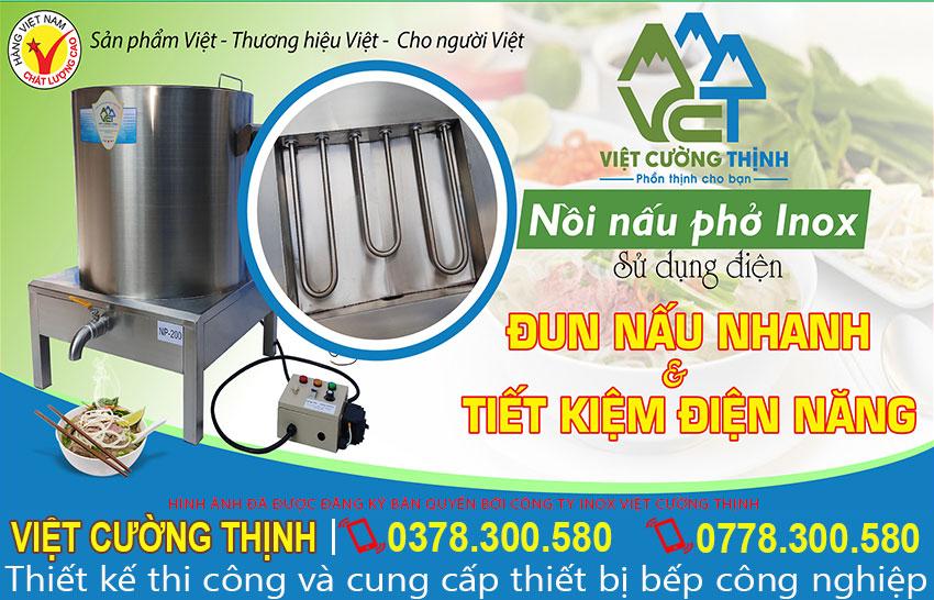 Nồi nấu phở bằng điện của Việt Cường Thịnh siêu tiết kiệm điện năng