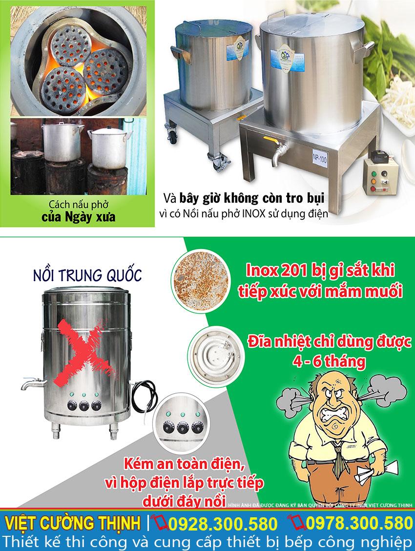 Nồi phở điện Inox Việt Cường Thịnh chất lượng vượt trội
