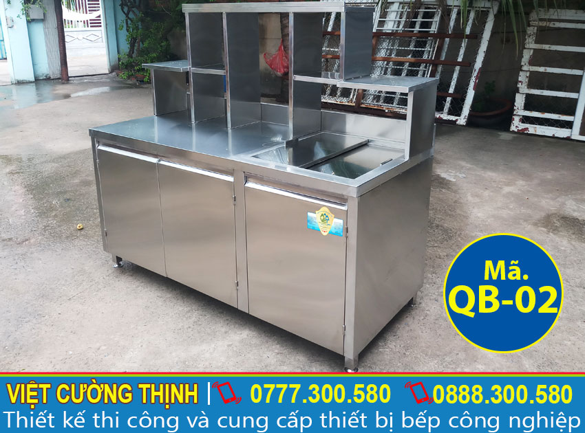 quầy bar inox 1m6 mẫu QB-02 giá tốt