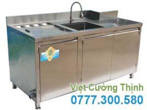 Quầy Bar Pha Chế Cafe Inox 304 Cao Cấp QB-08