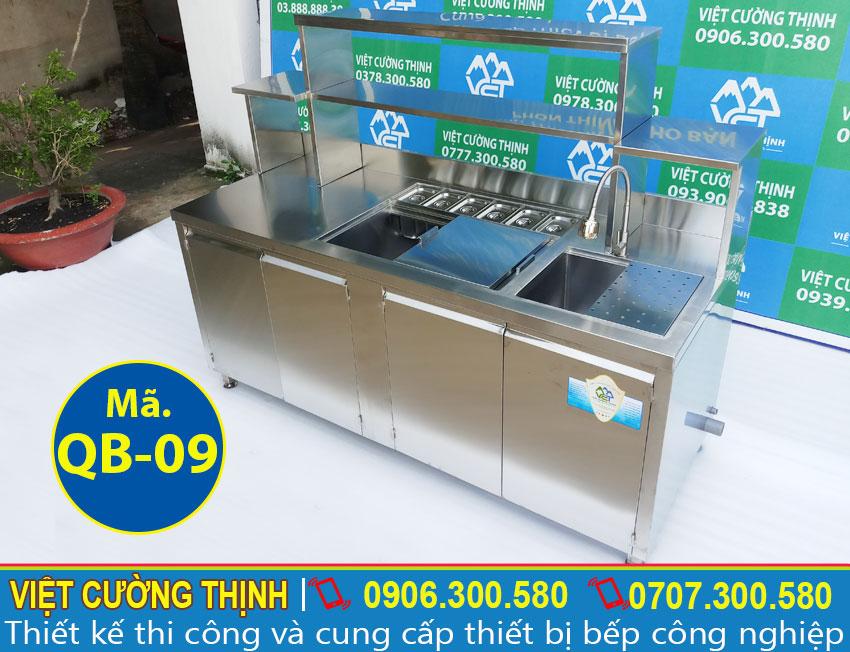 Quầy pha chế cafe inox 304 QB-09