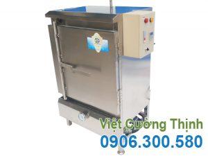 Tủ nấu cơm công nghiệp sử dụng điện và gas 30kg