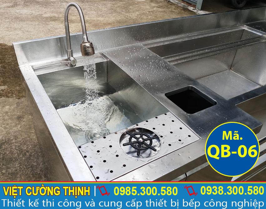 vòi nước của quầy pha chế trà sữa inox QB-06