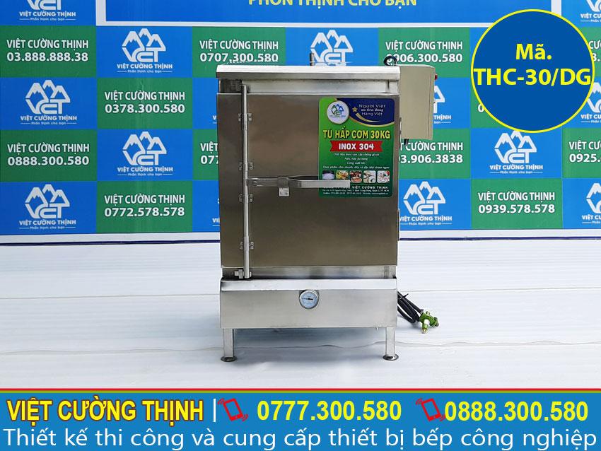 Báo giá tủ cơm công nghiệp 30kg dùng điện và gas tại tphcm