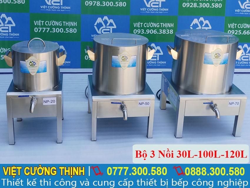 Bộ 3 Nồi Phở Điện Tiêu Chuẩn 30L-100L-120L chất lượng