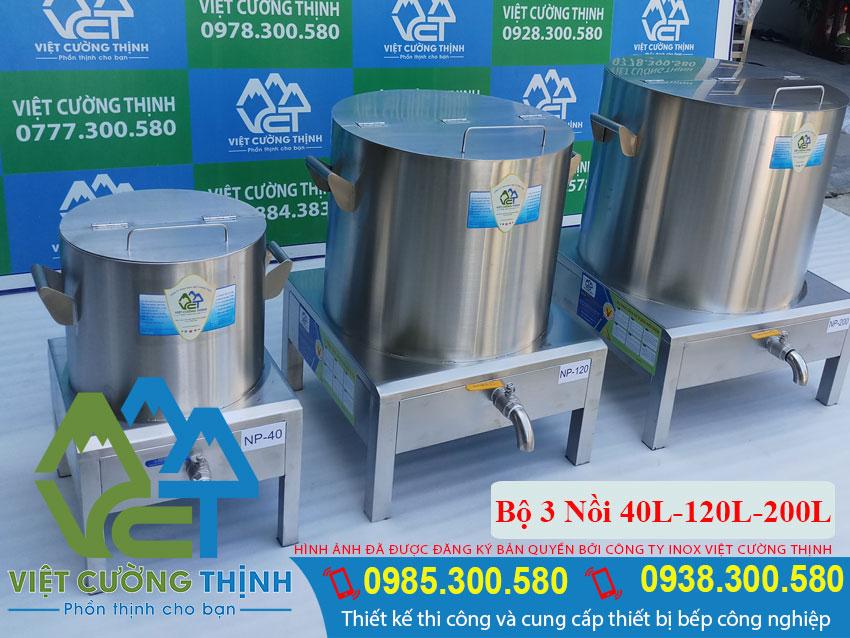 Bộ 3 Nồi Nấu Phở Bằng Điện 40L – 120L – 200L chất lượng