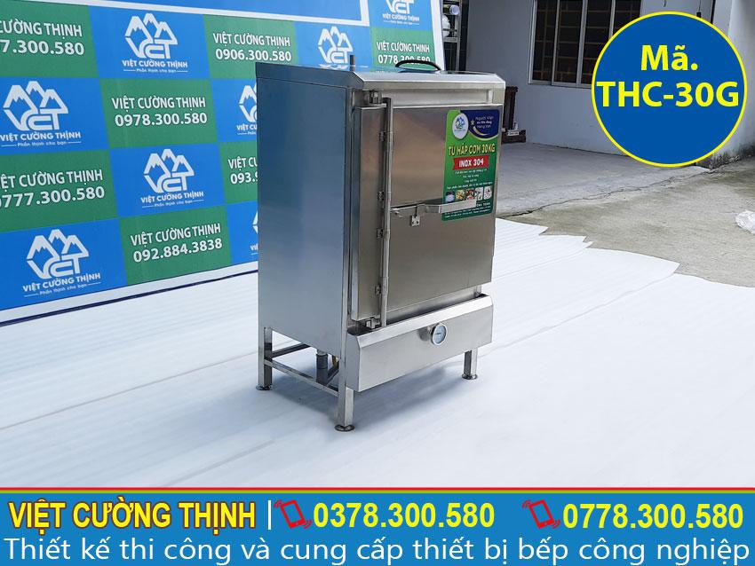 Địa chỉ cung cấp tủ nấu cơm công nghiệp 30kg dùng gas