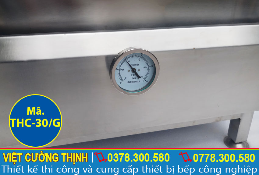 Đồng hồ đo nhiệt độ của tủ cơm 30kg sử dụng gas