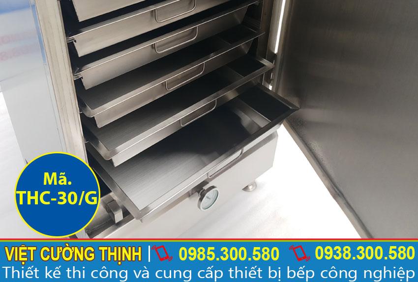 khay của tủ hấp cơm công nghiệp 30kg sử dụng gas