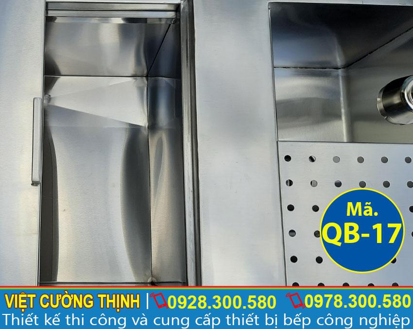 Tủ đựng đá inox 304 kèm chậu rửa âm quầy bar chất lượng tại Việt Cường Thịnh