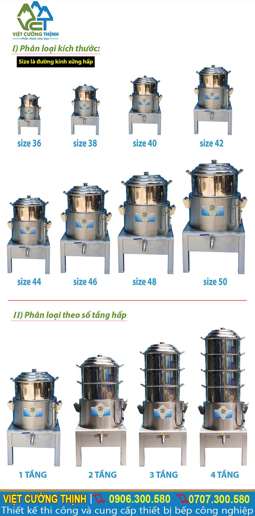 Việt Cường Thịnh cung cấp các loại nồi hấp điện công nghiệp sau: