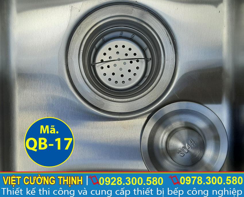 Xi phông chậu rửa inox 304 chống gỉ sét, dễ dàng vệ sinh