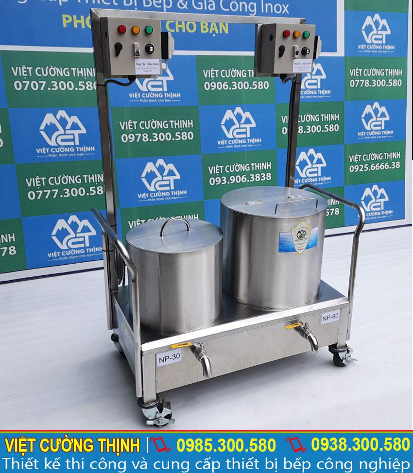 Địa chỉ bán bộ 2 nồi phở điện, bộ nồi nấu phở bằng điện 30-60L uy tín, chất lượng.