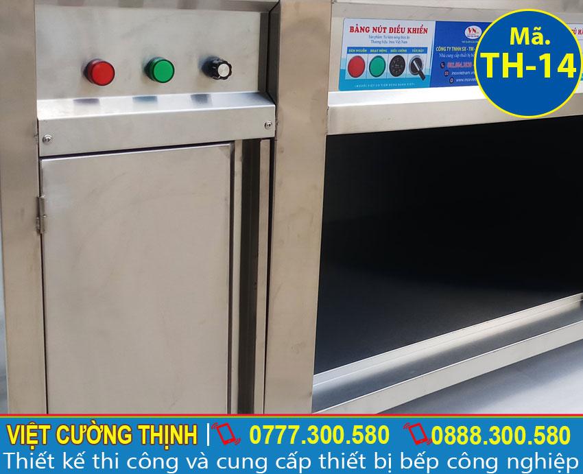 Góc trong tủ giữ nóng thực phẩm
