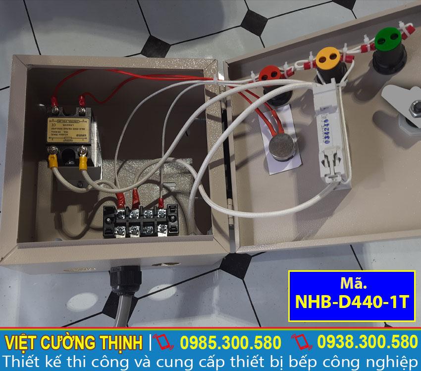 Hộp điện nồi luộc bắp inox được thiết kế rời, đơn giản, dễ sử dụng