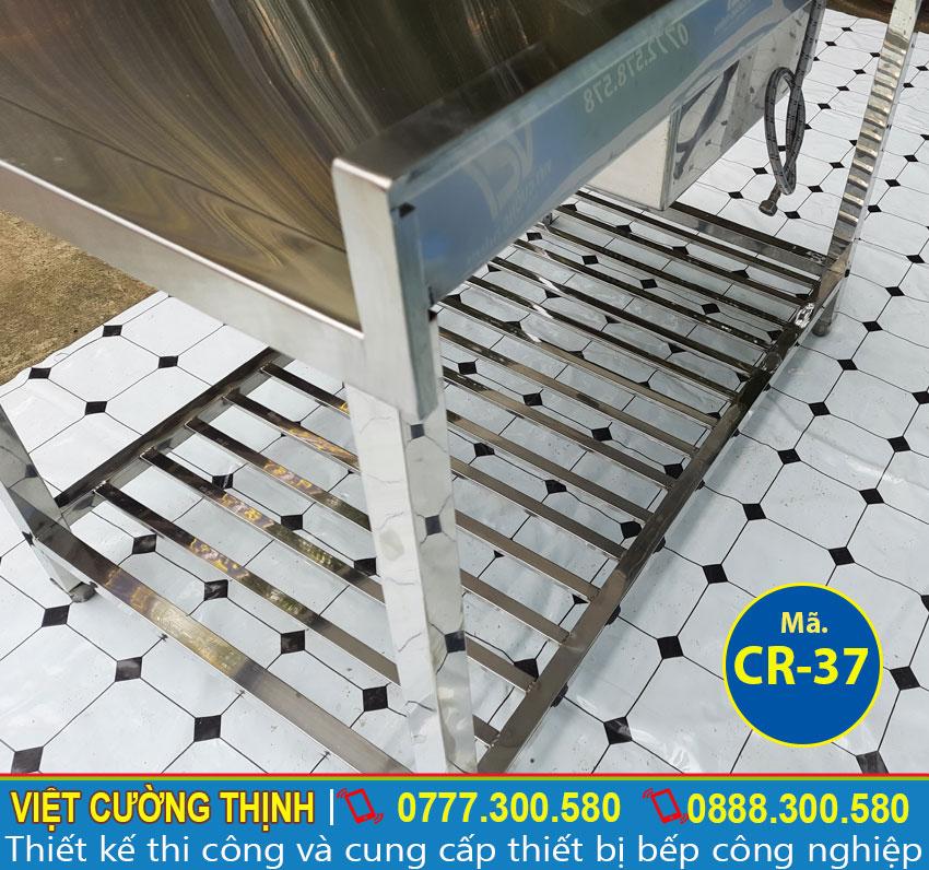 Góc chân bồn rửa chén công nghiệp inox 304
