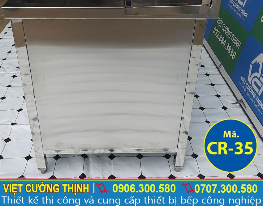 Góc ngang bồn rửa chén inox 2 ngăn chất lượng