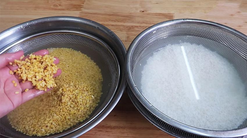 Sơ chế nếp và đậu xanh, cách nấu xôi đậu xanh thơm ngon