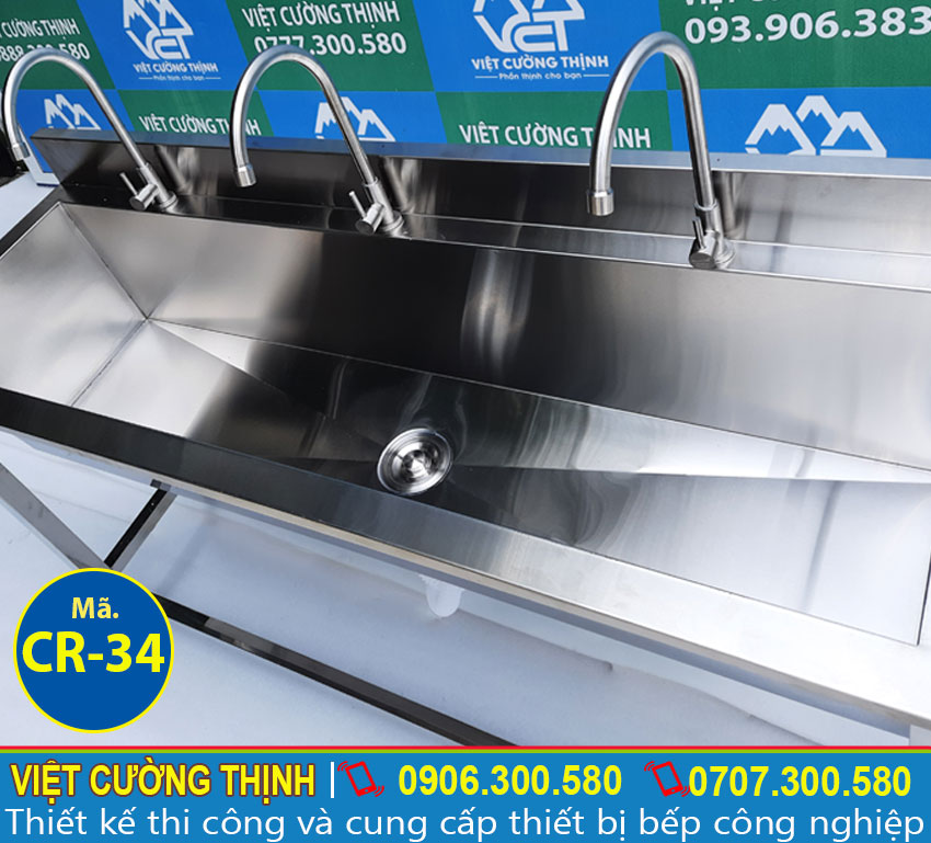 máng rửa tay inox 304 chất lượng tại Việt Cường Thịnh