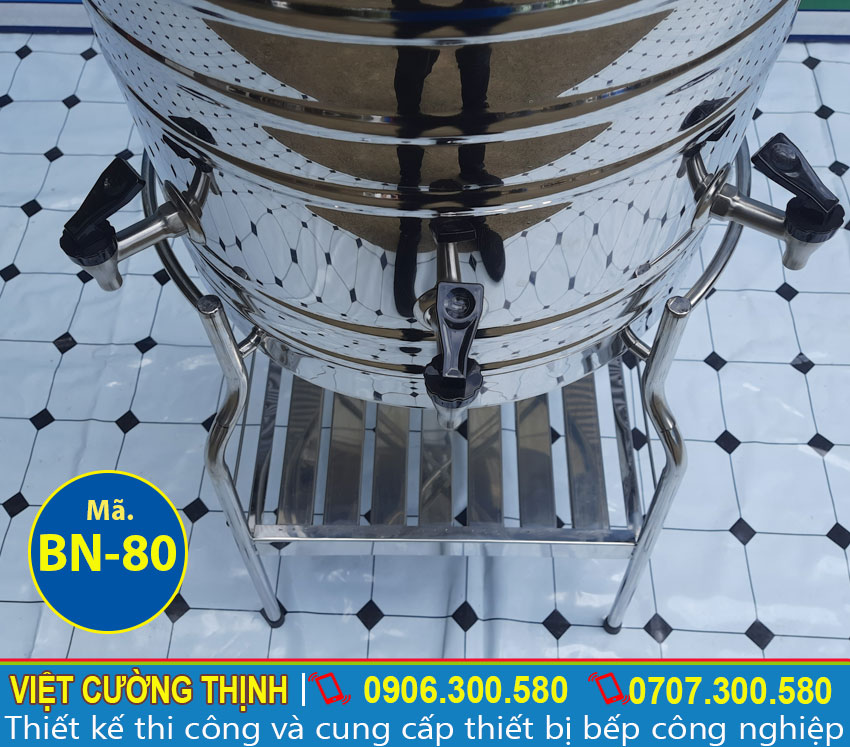 Vòi nước Bình nước inox 80L