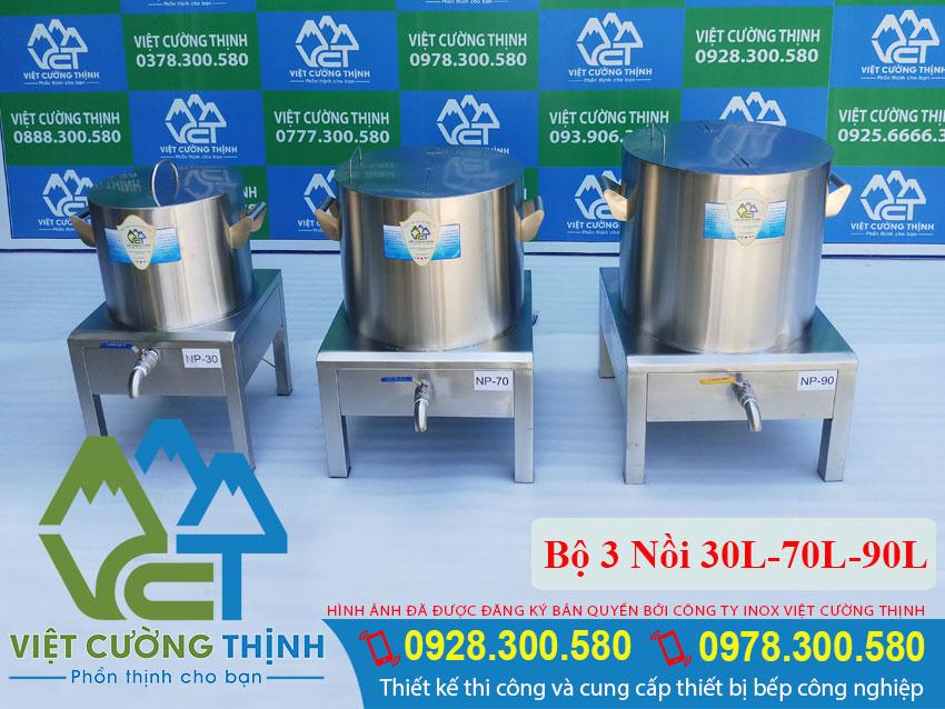 Bộ nồi nấu phở 30-70-90 Lít chất lượng tại Việt Cường Thịnh