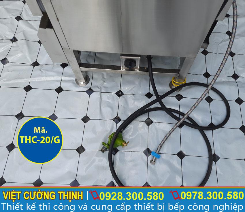 Ống van gas tủ hấp cơm sử dụng gas